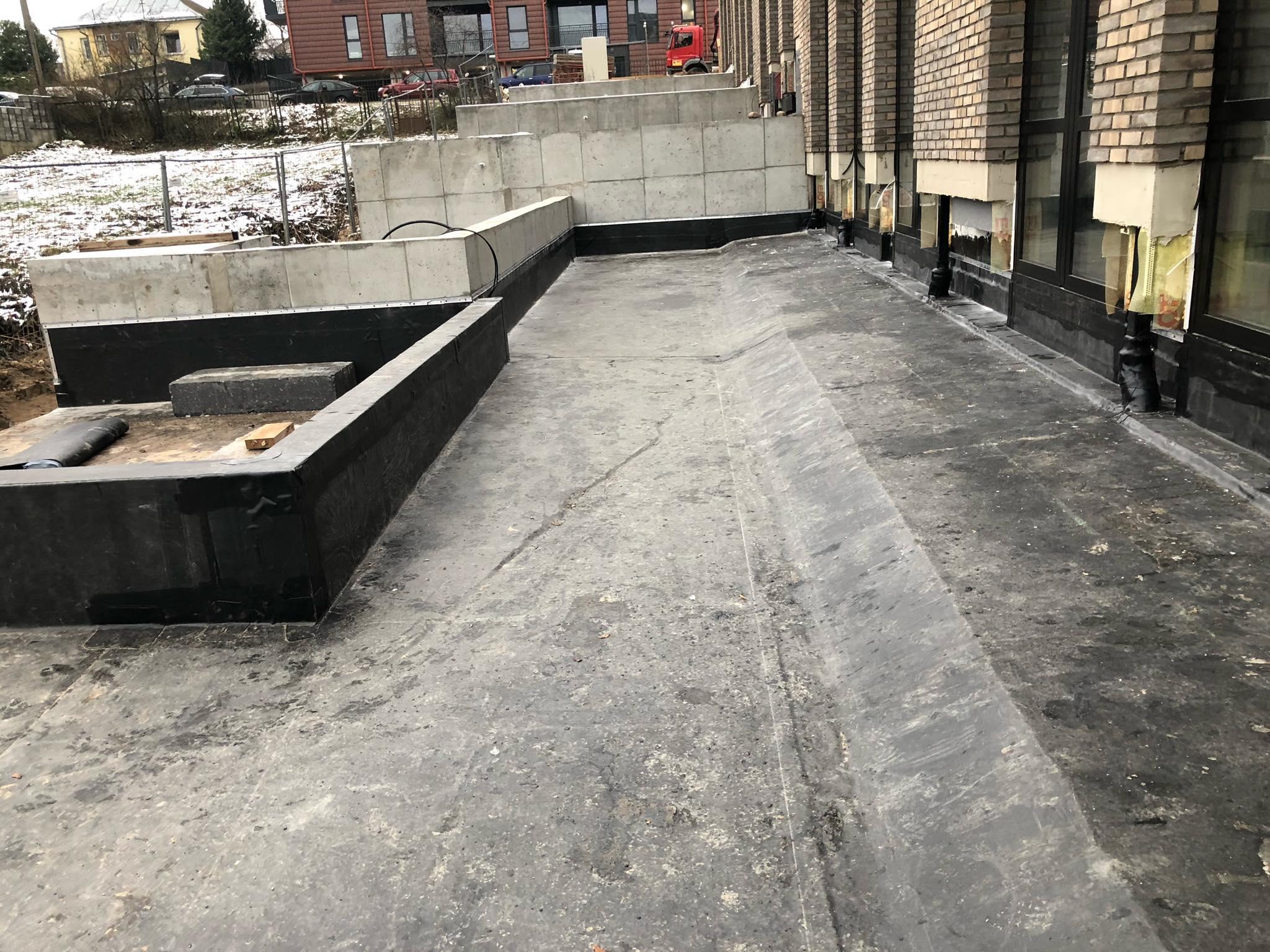 Požeminio parkingo/terasos hidroizoliacija, Vilnius - 2020 m.