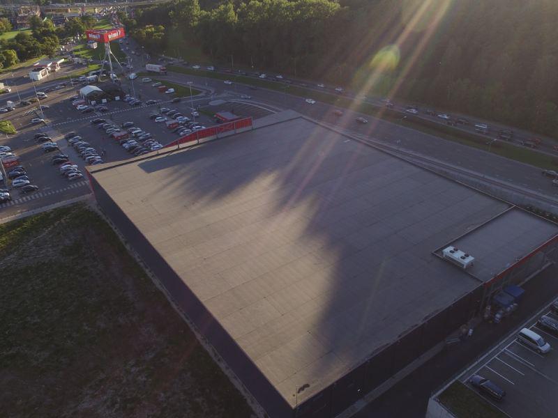 2014 m. Rimi prekybos centro stogas, 5000 m2