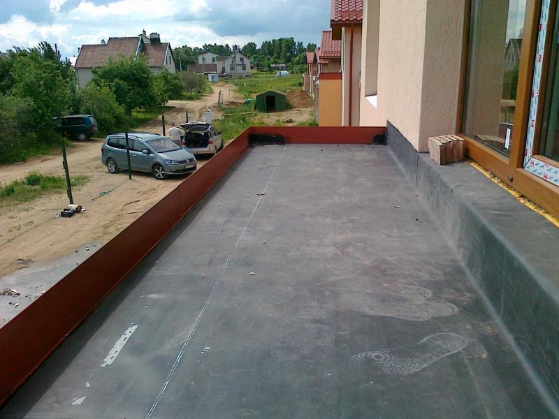 Balkono hidroizoliacija 20 m2 2011 m. EPDM klijuojama sistema