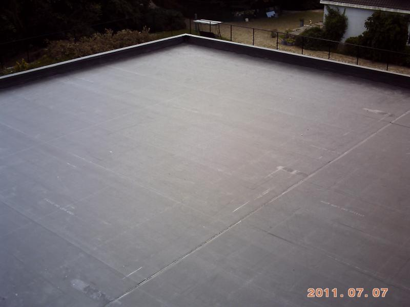 Stogas 200 m2 2011 m. EPDM klijuojama sistema