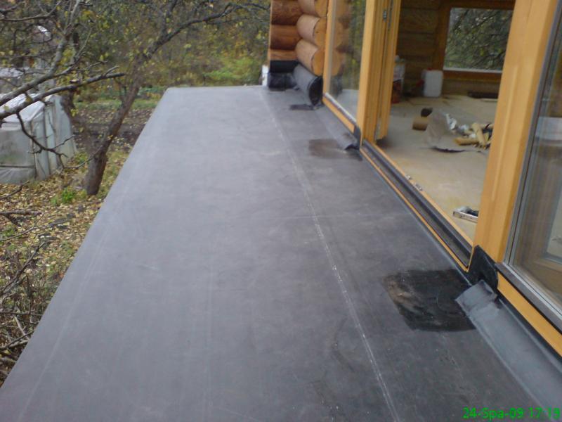 Terasa 8 m2 2009 m. EPDM klijuojama sistema