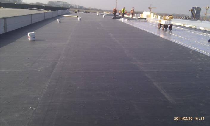 Stogas 1200 m2 2011 m. EPDM klijuojama sistema